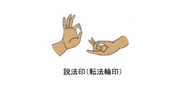 説法印(転法輪印)